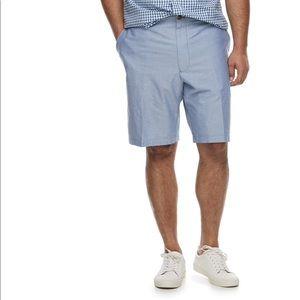 IZOD Newport Oxford flat front shorts